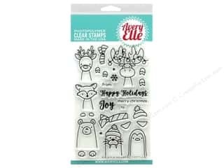 Avery Elle Clear Stamp Polar Peek-A-Boo Pals