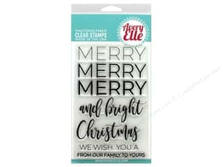scrapbooking & paper crafts: Avery Elle Clear Stamp Merry Merry