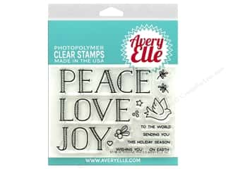 stamp cleaned: Avery Elle Clear Stamp Sending Peace