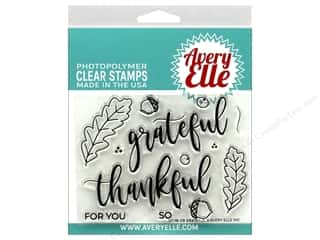 stamps: Avery Elle Clear Stamp Grateful
