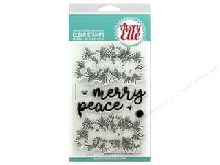 stamp cleaned: Avery Elle Clear Stamp Peaceful Pines