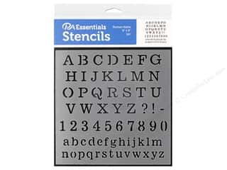 craft & hobbies: PA Essentials Stencil 6 x 6 in. Roman Alpha