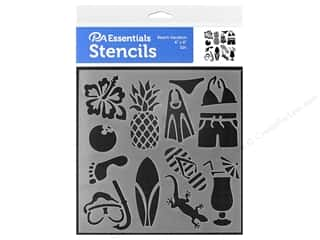 craft & hobbies: PA Essentials Stencil 6 x 6 in. Beach Vacation