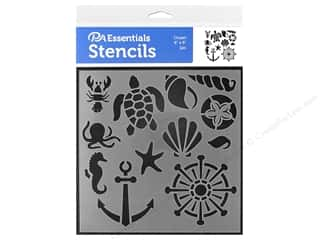 craft & hobbies: PA Essentials Stencil 6 x 6 in. Ocean