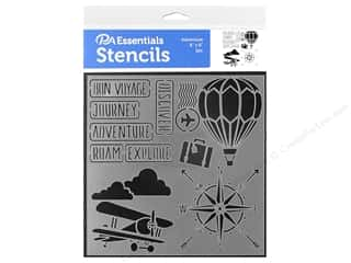 craft & hobbies: PA Essentials Stencil 6 x 6 in. Adventure