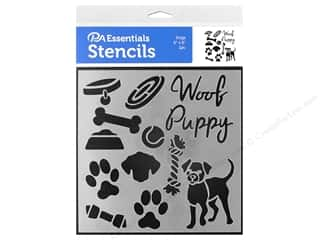 craft & hobbies: PA Essentials Stencil 6 x 6 in. Dogs