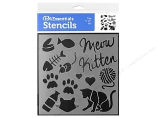 craft & hobbies: PA Essentials Stencil 6 x 6 in. Cats