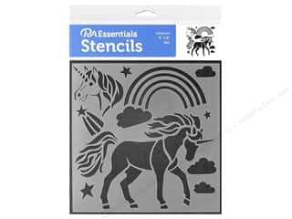 craft & hobbies: PA Essentials Stencil 6 x 6 in. Unicorn