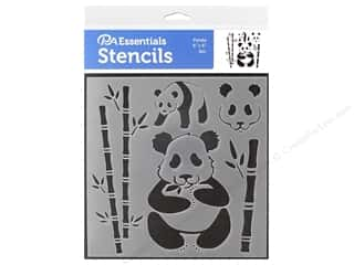 craft & hobbies: PA Essentials Stencil 6 x 6 in. Panda