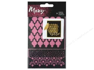 American Crafts Collection Moxy Stencil Round
