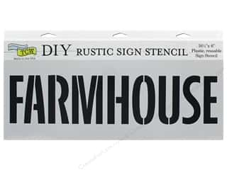 The Crafter's Workshop Stencil 16.5 in. x 6 in. Farmhouse