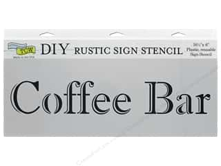 The Crafter's Workshop Stencil 16.5 in. x 6 in. Coffee Bar