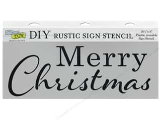 The Crafter's Workshop Stencil 16.5 in. x 6 in. Merry Christmas