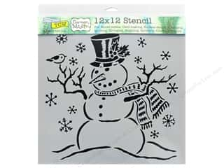 Clearance: The Crafter's Workshop Stencil 12 in. x 12 in. Mr Snowman