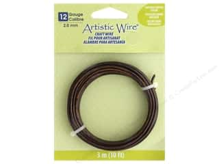 Artistic Wire 12Ga Tarnish Resistant Antique Copper 10 ft