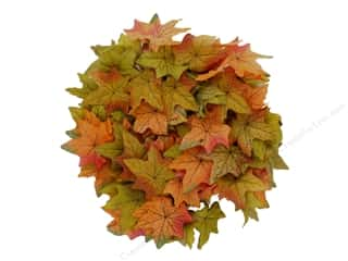 novelties: Sierra Pacific Crafts Decor Garland Variegated Maple Leaf 72 in. Orange/Green