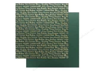Carta Bella Foil Merry Christmas 12 in. x 12 in. Green (25 pieces)