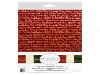 Carta Bella Foil Merry Christmas Kit 12 in. x 12 in. Gold