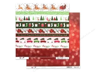 Clearance: Echo Park Collection Merry & Bright Paper 12 in. x 12 in. Border Strips (25 pieces)