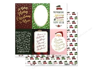 Clearance: Echo Park Collection Merry & Bright Paper 12 in. x 12 in. Journaling Cards 4 in. x 6 in. (25 pieces)