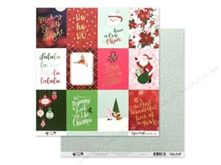 Clearance: Echo Park Collection Merry & Bright Paper 12 in. x 12 in. Journaling Cards 3 in. x 4 in. (25 pieces)