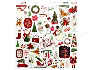 Echo Park Collection Merry & Bright Sticker 12 in. x 12 in. Element (15 pieces)