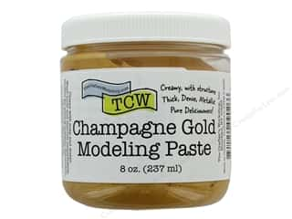 scrapbooking & paper crafts: The Crafters Workshop Modeling Paste 8 oz Champagne Gold
