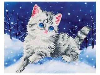 craft & hobbies: Diamond Dotz Intermediate Kit - Kitten In The Snow