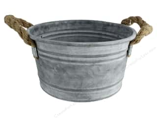 craft & hobbies: Sierra Pacific Crafts Galvanized Bucket Rope Handle 9 in. x 4.5 in.