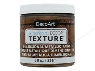 craft & hobbies: DecoArt Americana Decor Texture Metallics 8 oz Deep Bronze