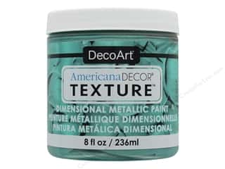 DecoArt Americana Decor Texture Paint - Metallic Teal Green 8 oz.