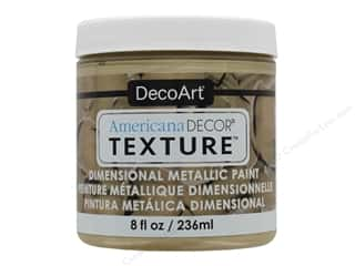 craft & hobbies: DecoArt Americana Decor Texture Metallics 8 oz Champagne
