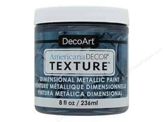 craft & hobbies: DecoArt Americana Decor Texture Metallics 8 oz Pewter