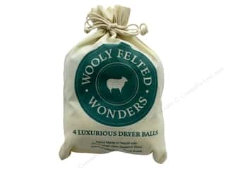 Wooly Felted Wonders Dryer Balls 4 pc Gray/White