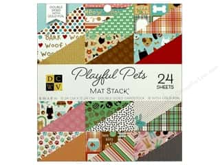 Die Cuts with a View 6 x 6 in. Paper Stack Playful Pets