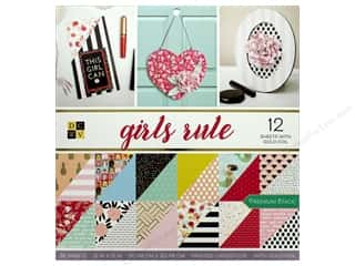 Die Cuts with a View 12 x 12 in. Paper Stack Girls Rule