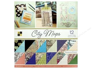 die cuts: Die Cuts with a View 12 x 12 in. Paper Stack City Maps