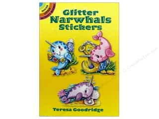 scrapbooking & paper crafts: Dover Publications Little Glitter Narwhals Sticker Book
