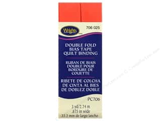 Wrights Double Fold Quilt Binding 3 yd. Neon Red
