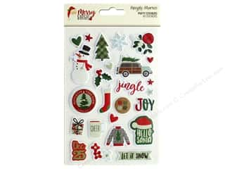 Clearance: Simple Stories Collection Merry & Bright Puffy Stickers