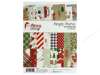 scrapbooking & paper crafts: Simple Stories Collection Merry & Bright Paper Pad 6 in. x 8 in.