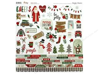 Clearance: Simple Stories Collection Merry & Bright Sticker 12 in. x 12 in. (12 pieces)