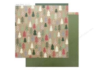 scrapbooking & paper crafts: Simple Stories Collection Merry & Bright Paper 12 in. x 12 in. Hello December (25 pieces)