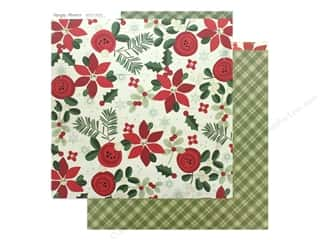 scrapbooking & paper crafts: Simple Stories Collection Merry & Bright Paper 12 in. x 12 in. Joy & Happiness (25 pieces)