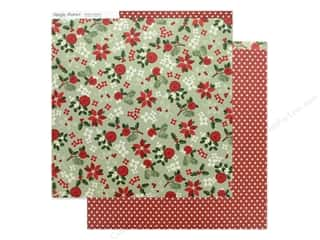 scrapbooking & paper crafts: Simple Stories Collection Merry & Bright Paper 12 in. x 12 in. A Simple Wish (25 pieces)