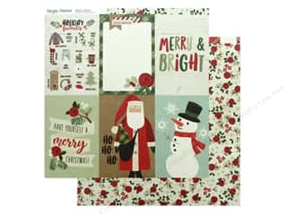 Clearance: Simple Stories Collection Merry & Bright Paper 12 in. x 12 in. Elements Vertical 4 in. x 6 in. (25 pieces)