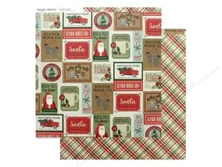 scrapbooking & paper crafts: Simple Stories Collection Merry & Bright Paper 12 in. x 12 in. Celebrate The Season (25 pieces)