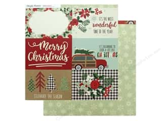 Clearance: Simple Stories Collection Merry & Bright Paper 12 in. x 12 in. Elements Horizontal 4 in. x 6 in. (25 pieces)