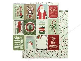 scrapbooking & paper crafts: Simple Stories Collection Merry & Bright Paper  12 in. x 12 in. Elements 3 in. x 4 in. (25 pieces)