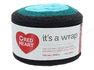 yarn & needlework: Coats & Clark Red Heart It's A Wrap Yarn 7 oz Action